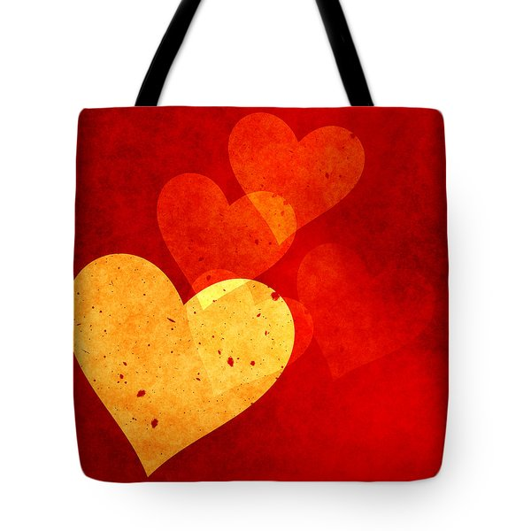 Floating Hearts Tote Bag by Kurt Van Wagner