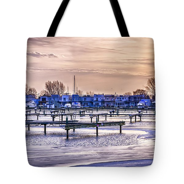Floating Homes At Bluffers Park Marina Tote Bag by Elena Elisseeva