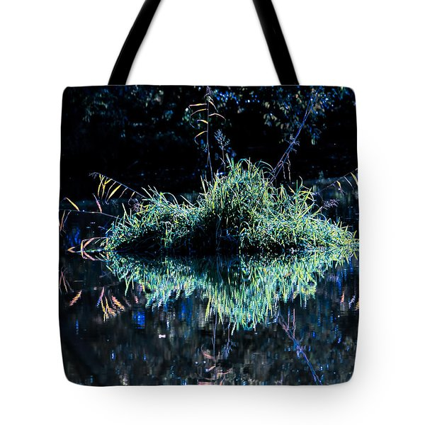 floating island Tote Bag by Leif Sohlman