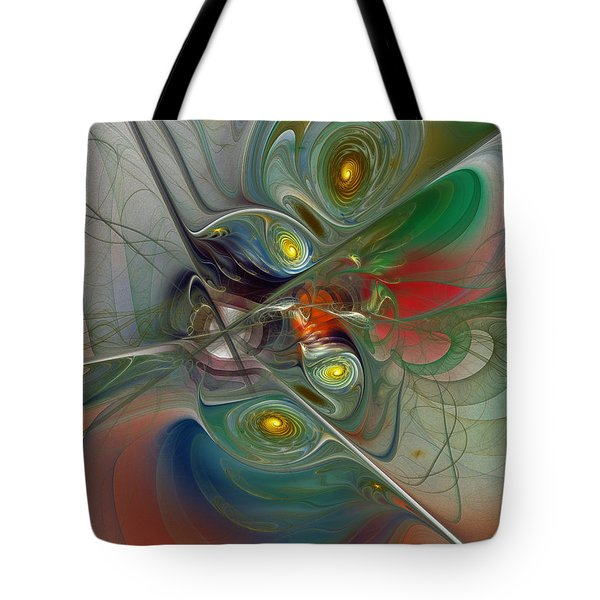 Floating Lightness-Abstract Art Tote Bag by Karin Kuhlmann