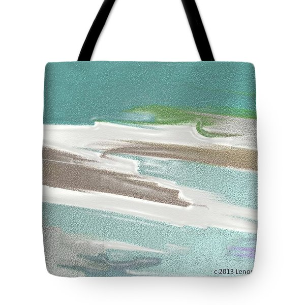 Floating On Ice Tote Bag by Lenore Senior