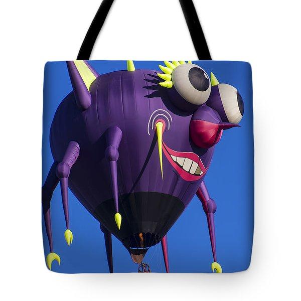 Floating Purple People Eater Tote Bag by Garry Gay