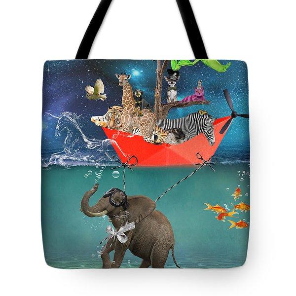 Floating Zoo Tote Bag by Juli Scalzi