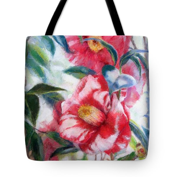 Floral Print Tote Bag by Nancy Stutes