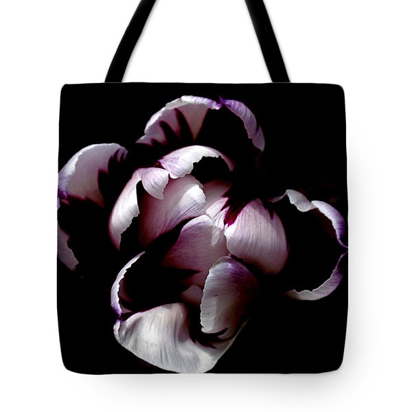 Floral Symmetry Tote Bag by Rona Black