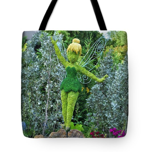 Floral Tinker Bell Tote Bag by Thomas Woolworth
