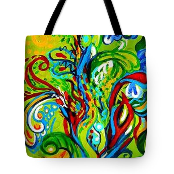 Floral Tree Fauna Tote Bag by Genevieve Esson