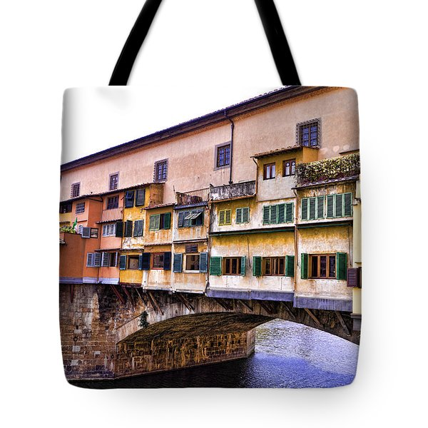 Florence Italy Ponte Vecchio Tote Bag by Jon Berghoff
