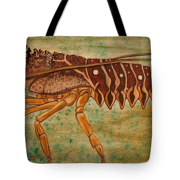 Florida Spiny Lobster Tote Bag by Susan Cliett