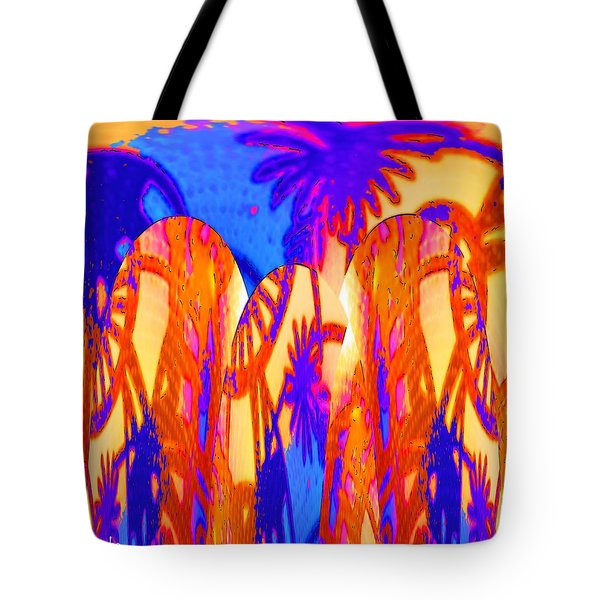 Florida Splash Abstract Tote Bag by Alec Drake
