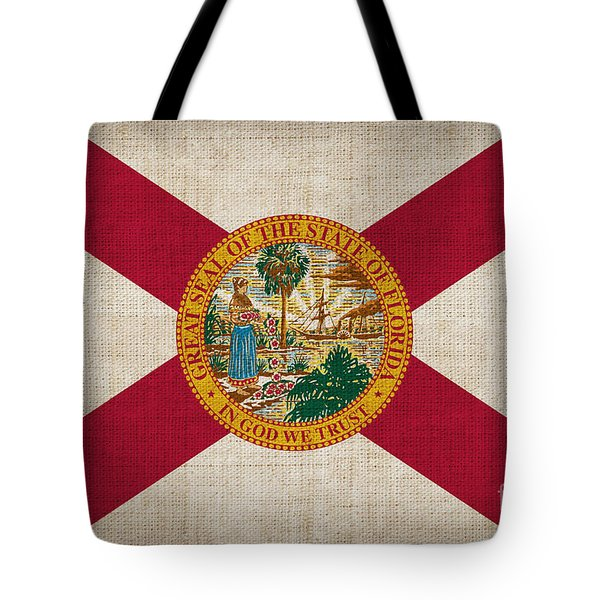 Florida State Flag Tote Bag by Pixel Chimp