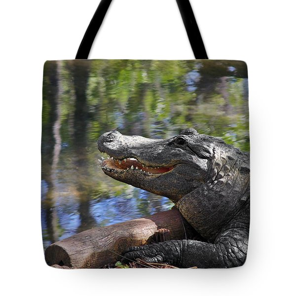 Florida - Where The Alligator Smiles Tote Bag by Christine Till