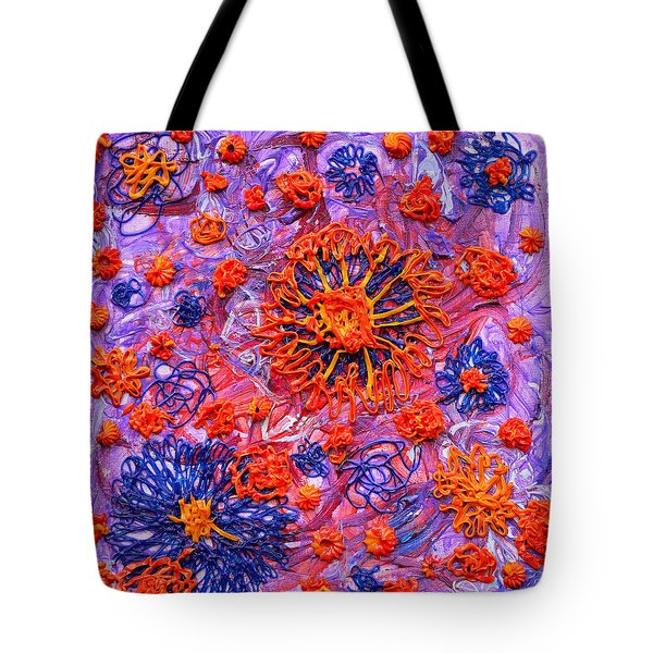 Floridly Floral Tote Bag by Regina Valluzzi