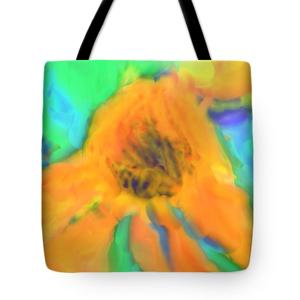 Flower Abstract Tote Bag by Tom Gowanlock
