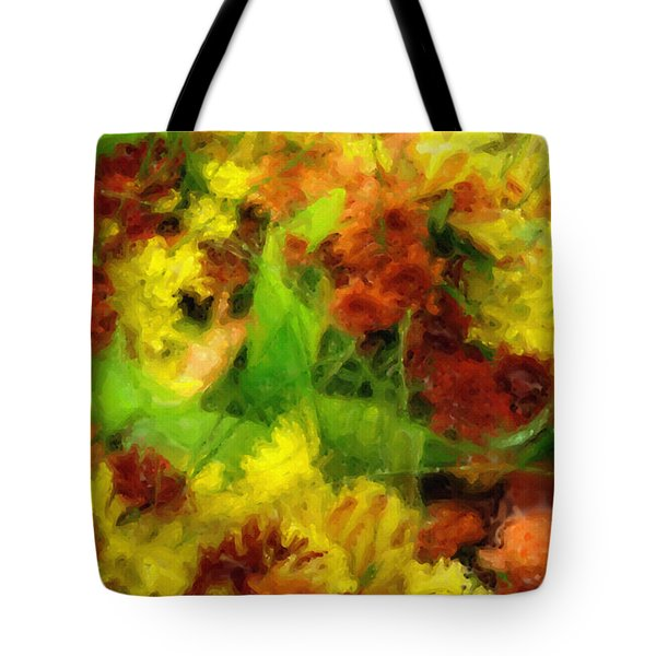 Flower Carnival Tote Bag by Ayse Deniz