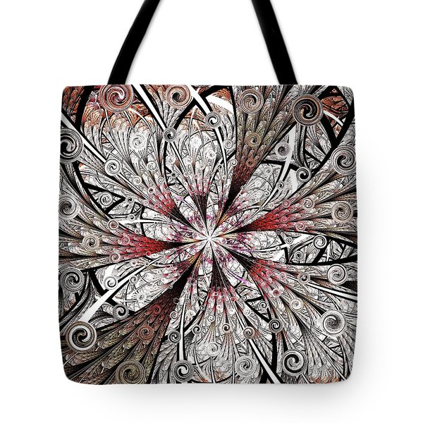Flower Carving Tote Bag by Anastasiya Malakhova