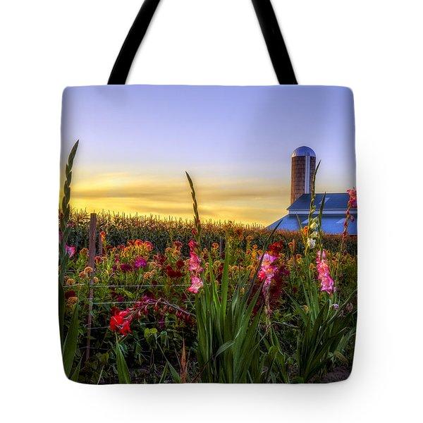 Flower farm Tote Bag by Mark Papke