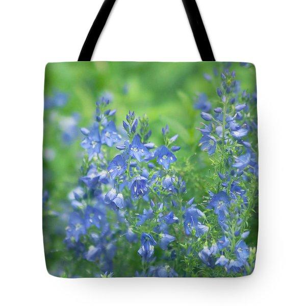 Flower Frenzy Tote Bag by Kim Hojnacki