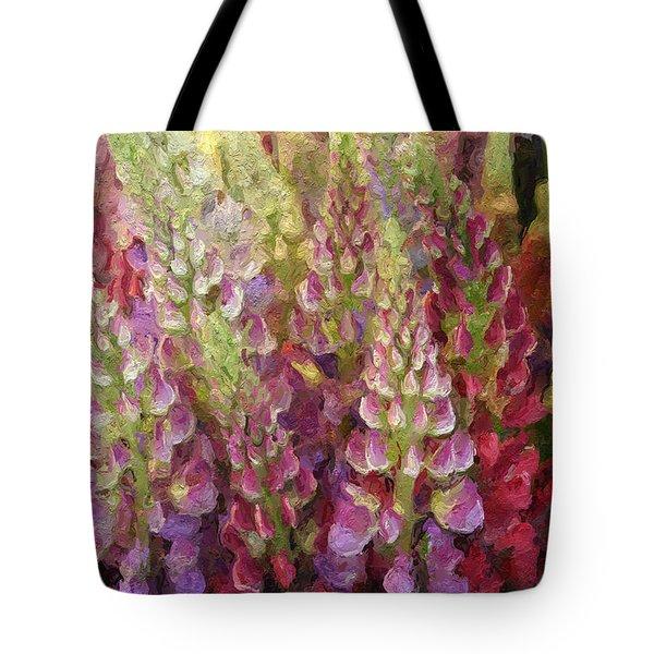 Flower Garden Tote Bag by Linda Woods