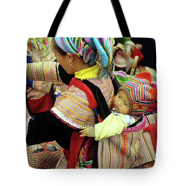 Flower Hmong Baby 03 Tote Bag by Rick Piper Photography