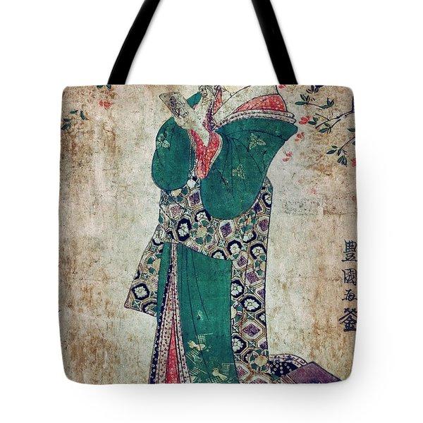Flower Of Japan C. 1804 Tote Bag by Daniel Hagerman