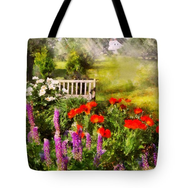 Flower - Poppy - Piece Of Heaven Tote Bag by Mike Savad