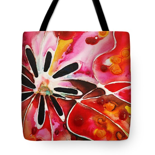 Flower Power - Abstract Floral By Sharon Cummings Tote Bag by Sharon Cummings