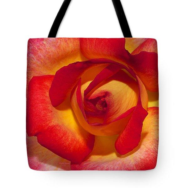 Flower Power Tote Bag by Phyllis Denton