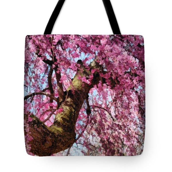 Flower - Sakura - Finally it's Spring Tote Bag by Mike Savad