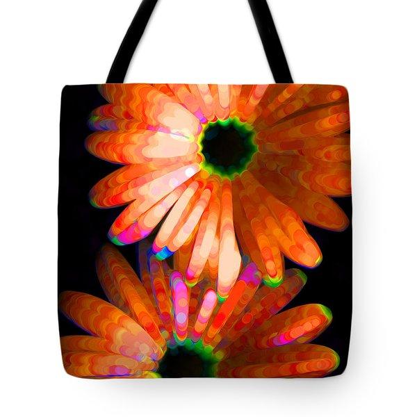Flower Study 5 - Vibrant Orange By Sharon Cummings Tote Bag by Sharon Cummings
