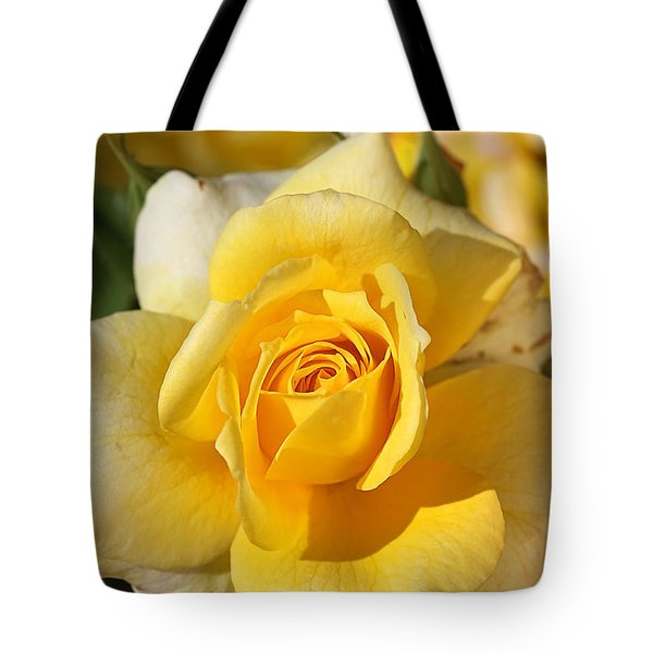 Flower-yellow Rose-delight Tote Bag by Joy Watson