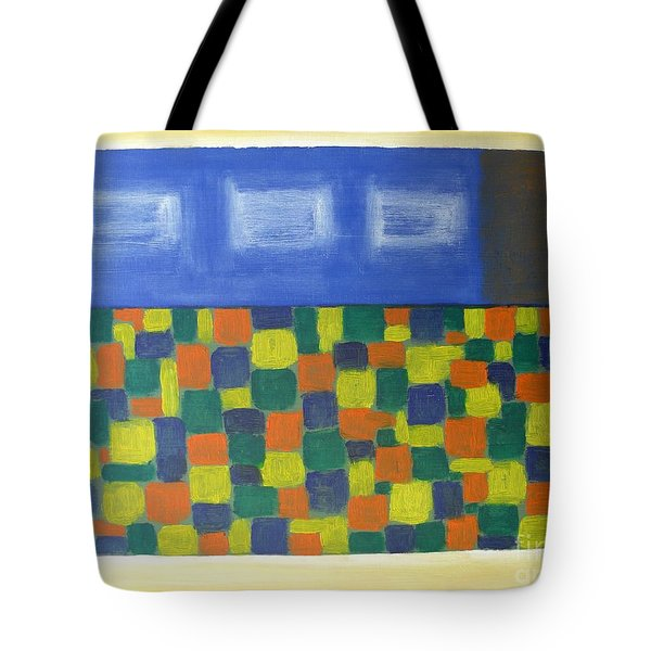 Flowerbed Outside The Window Tote Bag by Patrick J Murphy