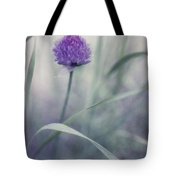 flowering chive Tote Bag by Priska Wettstein