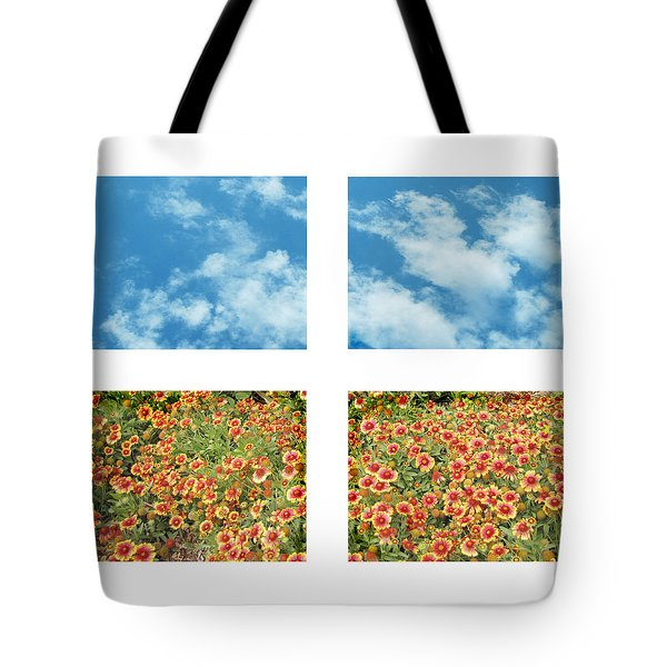 Flowers And Sky Tote Bag by Ann Powell