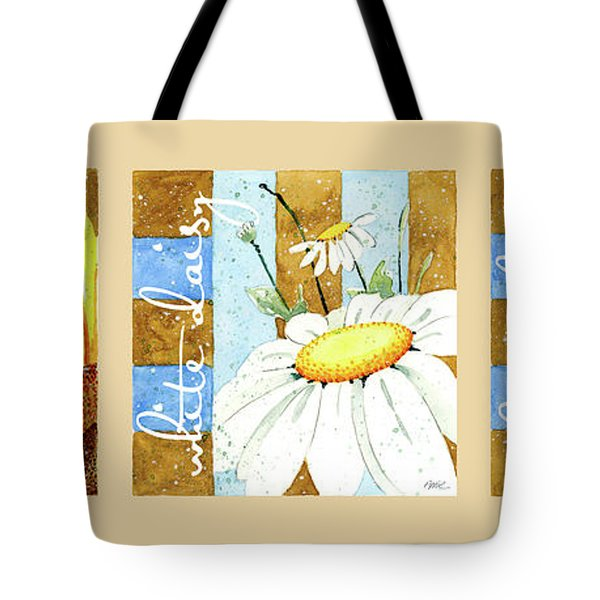Flowers And Stripes Tote Bag by Annie Troe
