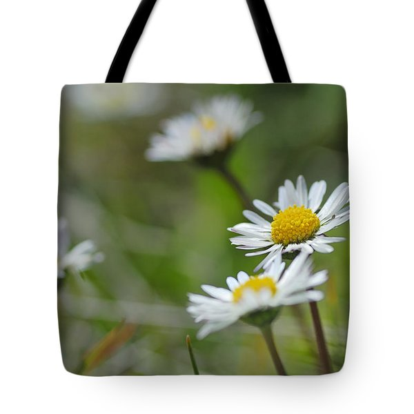 Flowers At The Mountains Tote Bag by Guido Montanes Castillo