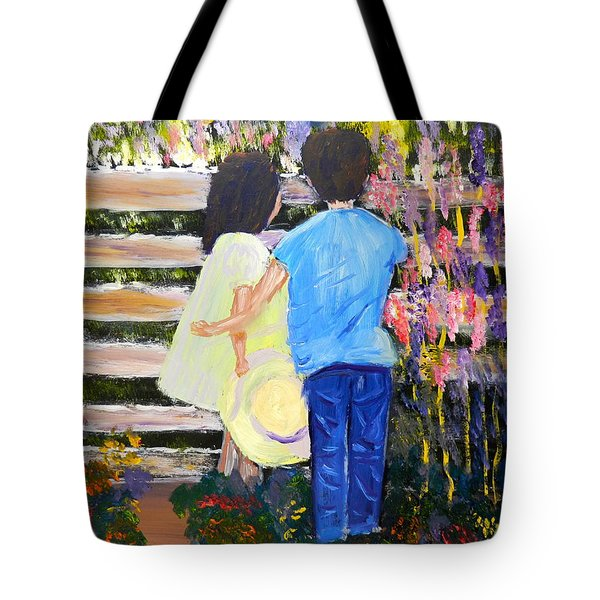 Flowers For Her Tote Bag by Pamela  Meredith