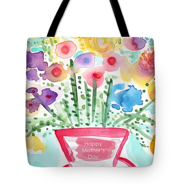 Flowers For Mom- Mother's Day Card Tote Bag by Linda Woods