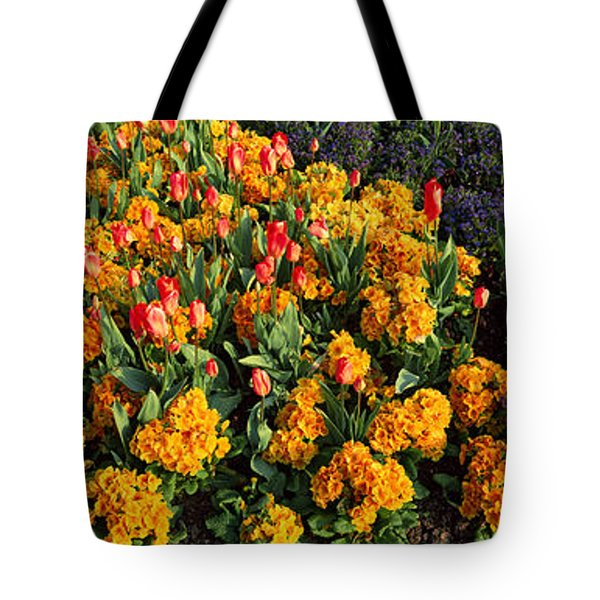 Flowers In Hyde Park, City Tote Bag by Panoramic Images