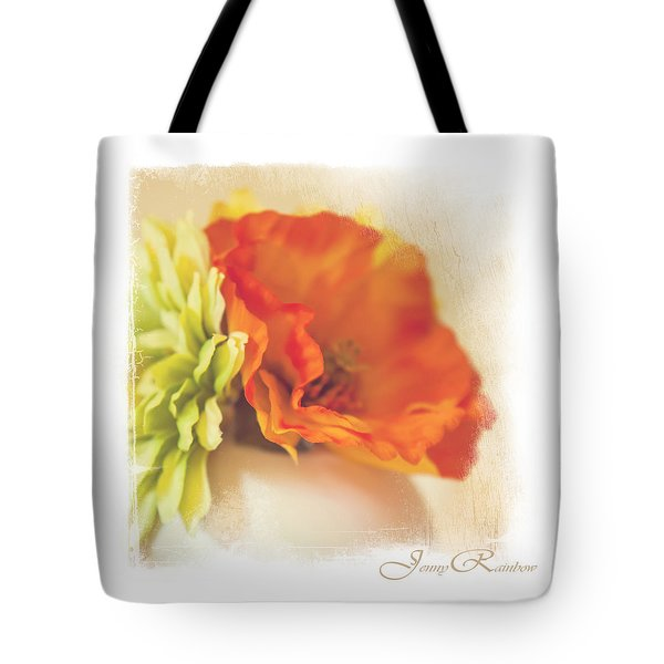 Flowers In Vase. Mini-idea For Interior Tote Bag by Jenny Rainbow