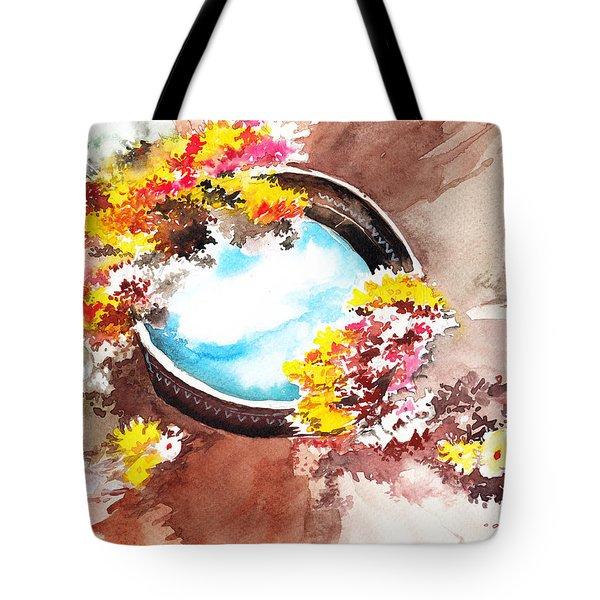Flowers N Sky Tote Bag by Anil Nene