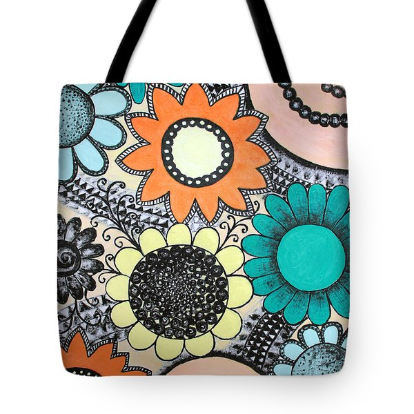 Flowers Paradise Tote Bag by Home Art
