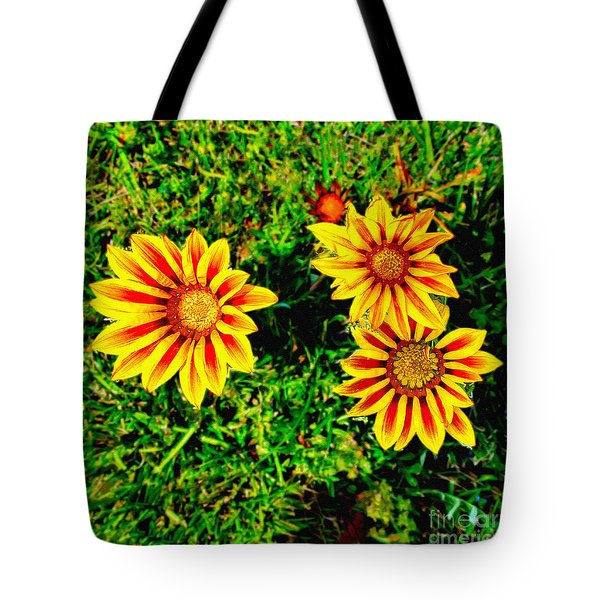 Flowers Thousand Trails  Tote Bag by Bob and Nadine Johnston
