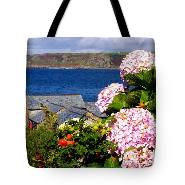 Flowers With A Sea View Tote Bag by Terri  Waters