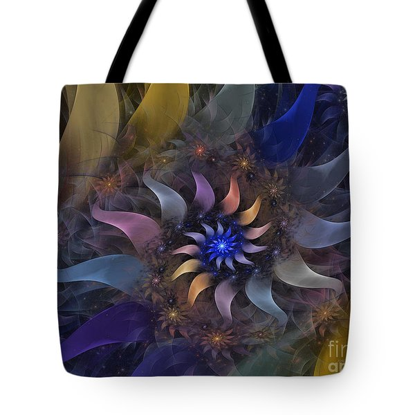 Flowery Fractal Composition With Stardust Tote Bag by Karin Kuhlmann