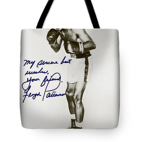 Floyd Paterson Tote Bag by Studio Artist