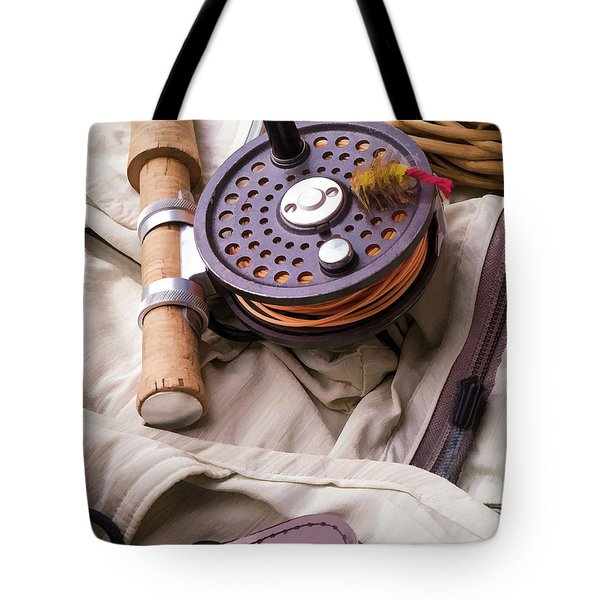 Fly Fishing Still Life Tote Bag by Edward Fielding