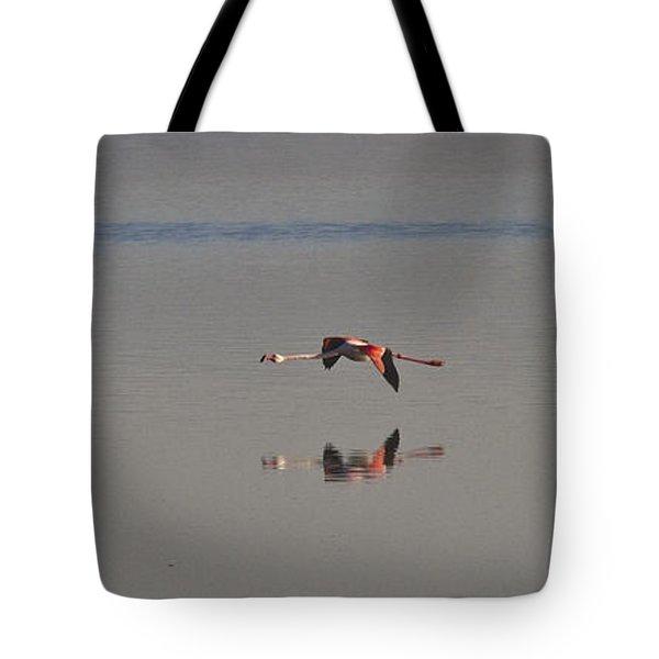 Fly Fly Away My Pretty Flamingo Tote Bag by Heiko Koehrer-Wagner
