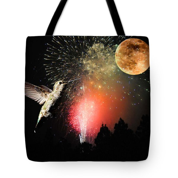 Fly Me to the Moon Tote Bag by Lynn Bauer
