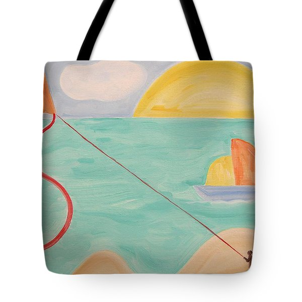 Flying A Kite Tote Bag by Patrick J Murphy